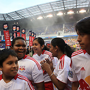 Excited youngsters after accompanying the players on to the field during the New York Red Bulls V Chivas USA Major League Soccer match at Red Bull Arena, Harrison, New Jersey, 23rd May 2012. Photo Tim Clayton