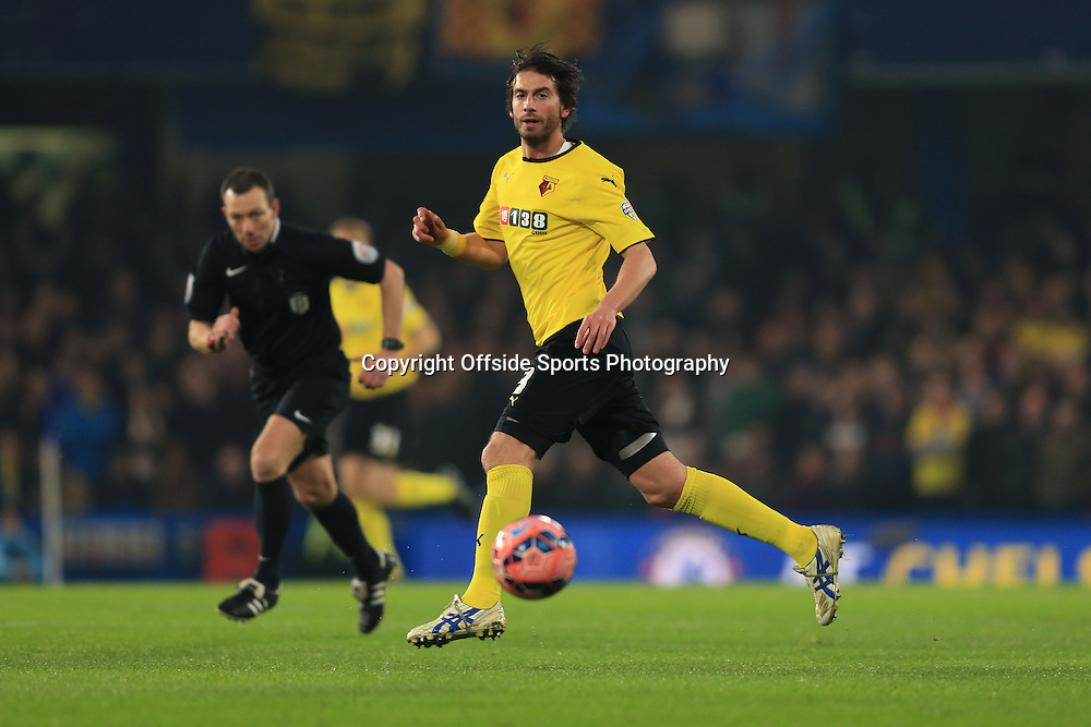 4 January 2015 - The FA Cup 3rd Round - Chelsea v Watford - Gianni Munari of Watford - Photo: Marc Atkins / Offside.