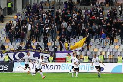 Players of Rudar celebrate during football match between NK Maribor and NK Velenje Rudar in 34th Round of Prva liga Telekom Slovenije 2015/16, on May 11, 2016, in Ljudski vrt, Maribor, Slovenia. Photo by Matic Klansek Velej / Sportida