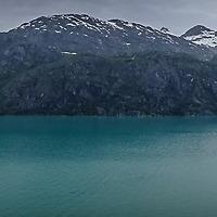 Glacier Bay Panorama from deck of Noordam. ±150°