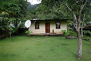 Satellite dish, Hanavave, Island of Fatu Hiva, Marquesas Islands, French Polynesia<br />