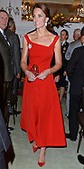 Kate Middleton Wears Red Dress For BC Reception
