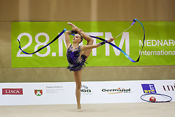 Kaat Wyers of Belgium competes during 28th MTM - International tournament in rhythmic gymnastics Ljubljana, on April 4, 2015 in Arena Krim, Ljubljana, Slovenia. Photo by Matic Klansek Velej / Sportida