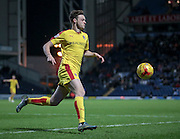 Brandon Barker (Rotherham United) collects the ball just outside of his penalty box during the Sky Bet Championship match between Blackburn Rovers and Rotherham United at Ewood Park, Blackburn, England on 11 December 2015. Photo by Mark P Doherty.