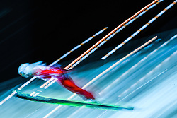 Vadim Shishkin of Russia in action during the HS134 event at the FIS Ski Jumping World Cup in Nizhny Tagil, Russia, 13 December 2014.