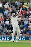 Wicket - Ben Stokes of England appeals for an lbw against Ajinkya Rahane of India who is given out after a review during day two of the fourth SpecSavers International Test Match 2018 match between England and India at the Ageas Bowl, Southampton, United Kingdom on 31 August 2018.