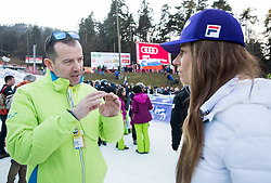 Enzo Smrekar and Tina Maze after the 2nd Run of the 7th Ladies' Giant slalom at 52nd Golden Fox - Maribor of Audi FIS Ski World Cup 2015/16, on January 30, 2016 in Pohorje, Maribor, Slovenia. Photo by Vid Ponikvar / Sportida