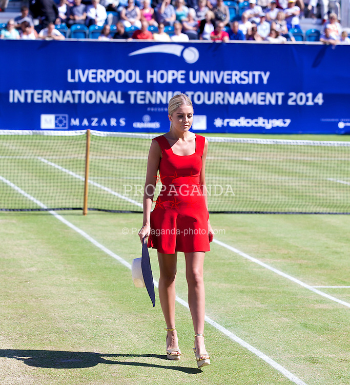 LIVERPOOL, ENGLAND - Friday, June 20, 2014: Fashion Show during Day Two of the Liverpool Hope University International Tennis Tournament at Liverpool Cricket Club. (Pic by David Rawcliffe/Propaganda)