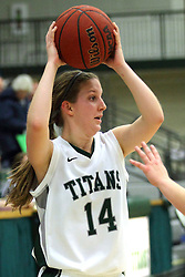 25 November 2014:  Shelby Gray during an NCAA women's division 3 CCIW basketball game between the Wisconsin Whitewater Warhawks and the Illinois Wesleyan Titans in Shirk Center, Bloomington IL
