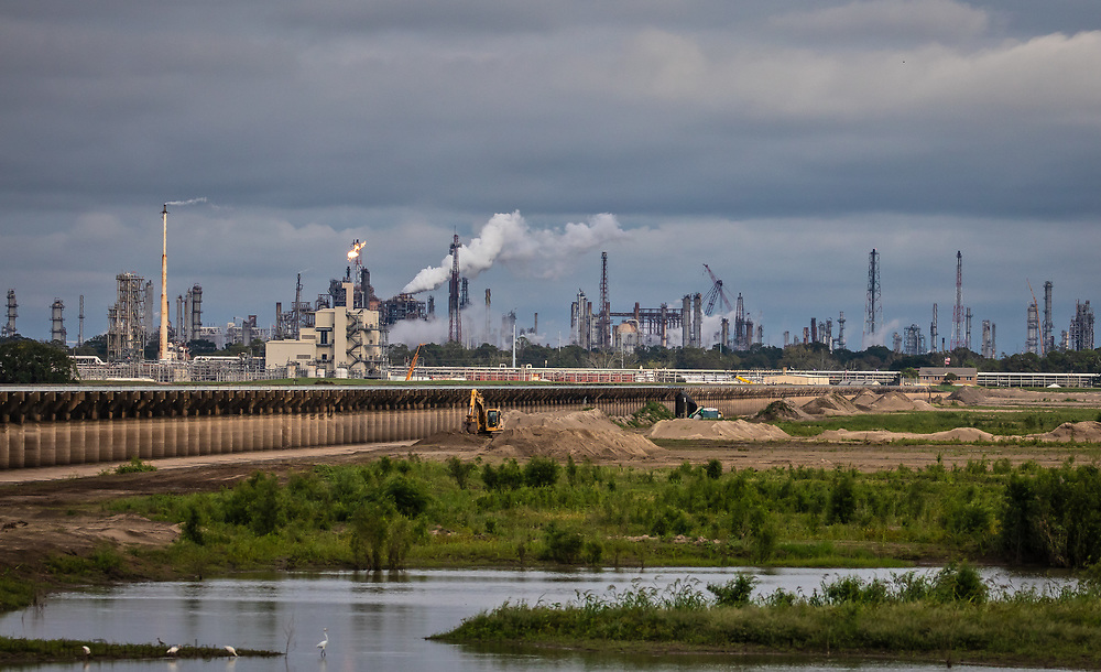 THe Bonne Carre Spillway next to Shell`s Norco Manufacturing Complex in Norco. Louisiana.