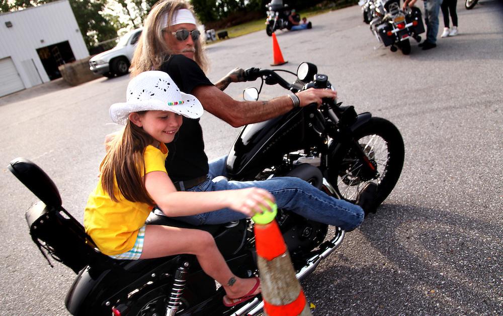 Motorcylcle games at Crossfire United Methodist Church in Wilkesboro, N.C.