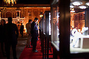 Guests admire Argyle pink diamond jewellery by Nirav Modi at the OzFest Gala Dinner in the Jaipur City Palace, in Rajasthan, India on 10 January 2013. Photo by Suzanne Lee