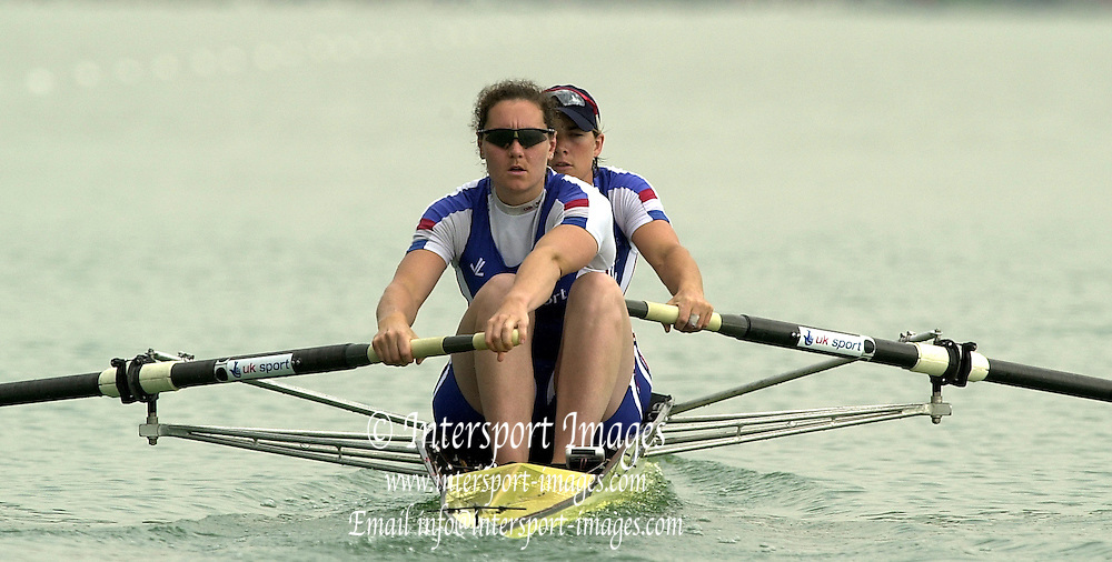 2003 - FISA World Cup Rowing Milan Italy.30/05/2003  - Photo Peter Spurrier.GBR W2- (B) Katherine Grainger and (S) Cath Bishop [Mandatory Credit: Peter Spurrier:Intersport Images]