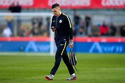 Ederson of Manchester City arrives at Rodney Parade prior to kick off - Mandatory by-line: Ryan Hiscott/JMP - 16/02/2019 - FOOTBALL - Rodney Parade - Newport, Wales - Newport County v Manchester City - Emirates FA Cup fifth round proper