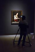 L'Ultimo Caravaggio, eredi e nuovi maestri (Last Caravaggio, Heirs and new Masters) exhibition at Gallerie d'Italia, Intesa Sanpaolo Museum, in Milan on November 30, 2017. In the picture Berenice, oil on canvas by Bernardo Strozzi. © Carlo Cerchioli