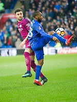 Football - 2017 / 2018 FA Cup - Fourth Round: Cardiff City vs. Manchester City<br /> <br /> \c33\  attacks Kyle Walker of Manchester City, at Cardiff City Stadium.<br /> <br /> <br /> COLORSPORT/WINSTON BYNORTH