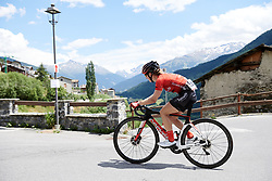 Leah Kirchmann (CAN) on the final climb of Stage 5 of 2019 Giro Rosa Iccrea, a 88.8 km road race from Ponte in Valtellina to Lago di Cancano, Italy on July 9, 2019. Photo by Sean Robinson/velofocus.com