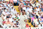 James Anderson of England has a half hearted appeal for a wicket during second day of the Specsavers International Test Match 2018 match between England and India at Edgbaston, Birmingham, United Kingdom on 2 August 2018. Picture by Graham Hunt.