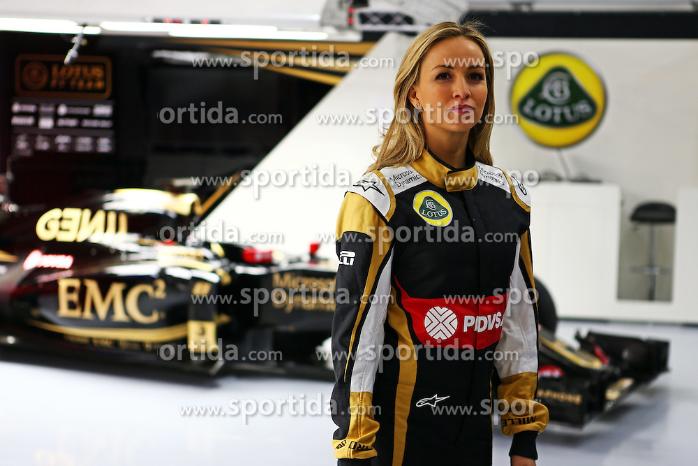 26.02.2015, Circuit de Catalunya, Barcelona, ESP, FIA, Formel 1, Testfahrten, Barcelona, Tag 1, im Bild Carmen Jorda (ESP) Lotus F1 Team. // during the Formula One Testdrives, day one at the Circuit de Catalunya in Barcelona, Spain on 2015/02/26. EXPA Pictures &copy; 2015, PhotoCredit: EXPA/ Sutton Images/ Lotus F1 Team<br /> <br /> *****ATTENTION - for AUT, SLO, CRO, SRB, BIH, MAZ only*****
