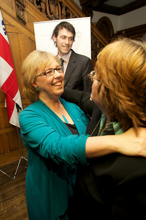 Elizabeth May, leader of The Green Party of Canada, speaks at the Sauve House on March 31st, 2010.