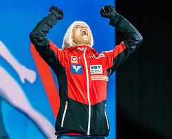 28.02.2019, Seefeld, AUT, FIS Weltmeisterschaften Ski Nordisch, Seefeld 2019, Skisprung, Damen, Siegerehrung, im Bild Eva Pinkelnig (AUT) // Eva Pinkelnig of Austria during the winner Ceremony for the ladie's Skijumping of the FIS Nordic Ski World Championships 2019. Seefeld, Austria on 2019/02/28. EXPA Pictures © 2019, PhotoCredit: EXPA/ Stefan Adelsberger