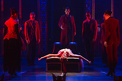 """© Licensed to London News Pictures. 04/12/2015. London, UK. Ashley Shaw as Aurora. Matthew Bourne's """"Sleeping Beauty"""", a Gothic Romance, is performed at Sadler's Wells from 1 Dec 2015 - 24 Jan 2016. Photo credit: Bettina Strenske/LNP"""