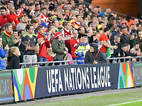 Football - 2018 / 2019 UEFA Nations League B - Group Four: Wales vs. Republic of Ireland<br /> <br /> Crowd applaud behind hoarding for UEFA NATIONS LEAGUE , at Cardiff City Stadium.<br /> <br /> COLORSPORT/WINSTON BYNORTH