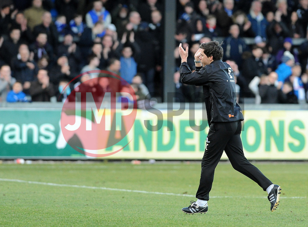Bristol Rovers Manager, Darrell Clarke - Photo mandatory by-line: Neil Brookman/JMP - Mobile: 07966 386802 - 21/02/2015 - SPORT - Football - Bristol - Memorial Stadium - Bristol Rovers v Altrincham - Vanarama Football Conference