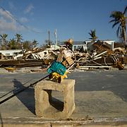 MARATHON, FL - SEPTEMBER 16: <br /> Destruction in the Sea Breeze trailer park in Plantation Key on September 16, 2017 in Marathon, Florida.  (Photo by Angel Valentin/Getty Images)
