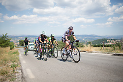 Sabrina Stultiens (NED) of Team Sunweb leads the break up on the climb to Montemiletto during  Stage 7 of the Giro Rosa - a 141.9 km road race, between Isernia and Baronissi on July 6, 2017, in Isernia, Italy. (Photo by Balint Hamvas/Velofocus.com)