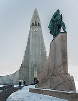Standing strong and proud out the front of Reykjavik's famous charge is this statue of Leifur heppni - 'Leif the Lucky'. It certainly makes a strong statement walking up to the massive forecourt area...