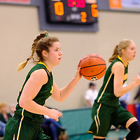 4th year guard, Michaela Kleisinger (2) of the Regina Cougars in action during the Regina Cougars vs Lethbridge on November 3 at University of Regina. Credit Matte Black Photos/©Arthur Images 2018