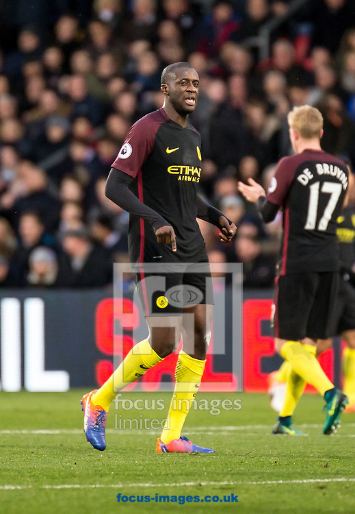 Yaya Toure of Manchester City during the Premier League match at Selhurst Park, London<br /> Picture by Liam McAvoy/Focus Images Ltd 07413 543156<br /> 19/11/2016
