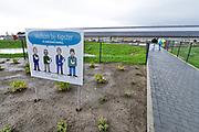Nederland, the Netherlands, Oirlo, 15-9-2017Vandaag werd de hypermoderne en meest duurzame kippenstal ter wereld geopend. De Kipster moet een kippenbedijf zijn wat milieuvriendelijk en diervriendelijk eieren produceert.De kippen komen komende week in de stal. Drie sterren voor beter leven. Via zonnepanelen op het dak wordt eigen stroom opgewekt.Foto: Flip Franssen
