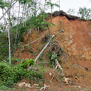 NOVEMBER 17, 2017&ndash;MARICAO, PUERTO RICO&mdash;<br /> A landslide visible from the main road cutting through the western  mountain town of Maricao.<br /> (Photo by Angel Valentin)