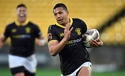 Wellington's Malo Tuitama trybound against Canterbury in the Mitre 10 Rugby match at Westpac Stadium, Wellington, New Zealand, Sunday September 17,, 2017. Credit:SNPA / Ross Setford  **NO ARCHIVING**