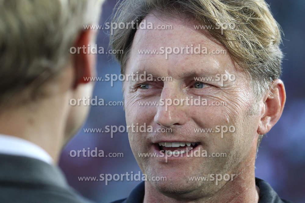 29.08.2015, WWK Arena, Augsburg, GER, 1. FBL, FC Augsburg vs FC Ingolstadt 04, 3. Runde, im Bild Ralph Hasenh&uuml;ttl (Trainer FC Ingolstadt), Interview vor dem Spiel, vor Spielbeginn, // during the German Bundesliga 3rd round match between FC Augsburg and FC Ingolstadt 04 at the WWK Arena in Augsburg, Germany on 2015/08/29. EXPA Pictures &copy; 2015, PhotoCredit: EXPA/ Eibner-Pressefoto/ Krieger<br /> <br /> *****ATTENTION - OUT of GER*****