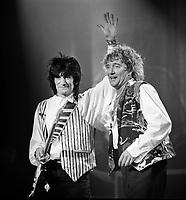 Ronnie Wood and Rod Stewart, The BRIT Awards 1993 <br /> Tuesday 16 Feb 1993.<br /> Alexandra Palace, London, England<br /> Photo: John Marshall - JM Enternational