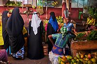 Kenya, archipel de Lamu, ville de Lamu patrimoine mondial de l'Unesco, le marché // Kenya, Lamu island, Lamu town, Unesco world heritage, the market