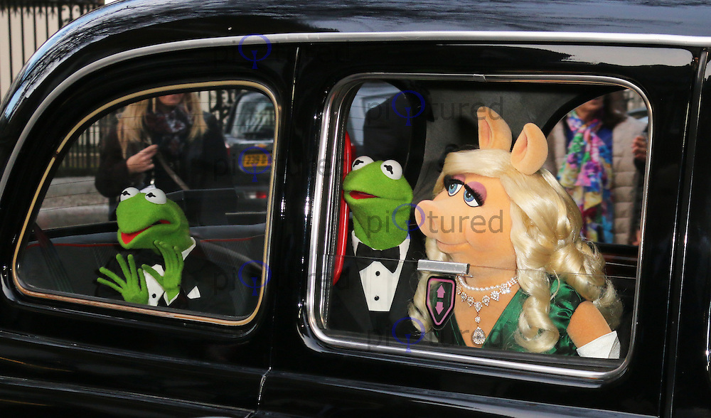 Constantine; Kermit the Frog; Miss Piggy, Muppets Most Wanted - VIP screening, Curzon Mayfair, London UK, 24 March 2014, Photo by Richard Goldschmidt
