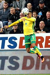 Martin Olsson of Norwich City heads the ball - Mandatory by-line: Robbie Stephenson/JMP - 28/09/2016 - FOOTBALL - St James Park - Newcastle upon Tyne, England - Newcastle United v Norwich City - Sky Bet Championship