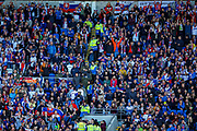 Slovakia fans during the UEFA European 2020 Qualifier match between Wales and Slovakia at the Cardiff City Stadium, Cardiff, Wales on 24 March 2019.