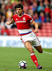 George Friend of Middlesbrough runs with the ball - Mandatory by-line: Robbie Stephenson/JMP - 16/10/2016 - FOOTBALL - Riverside Stadium - Middlesbrough, England - Middlesbrough v Watford - Premier League