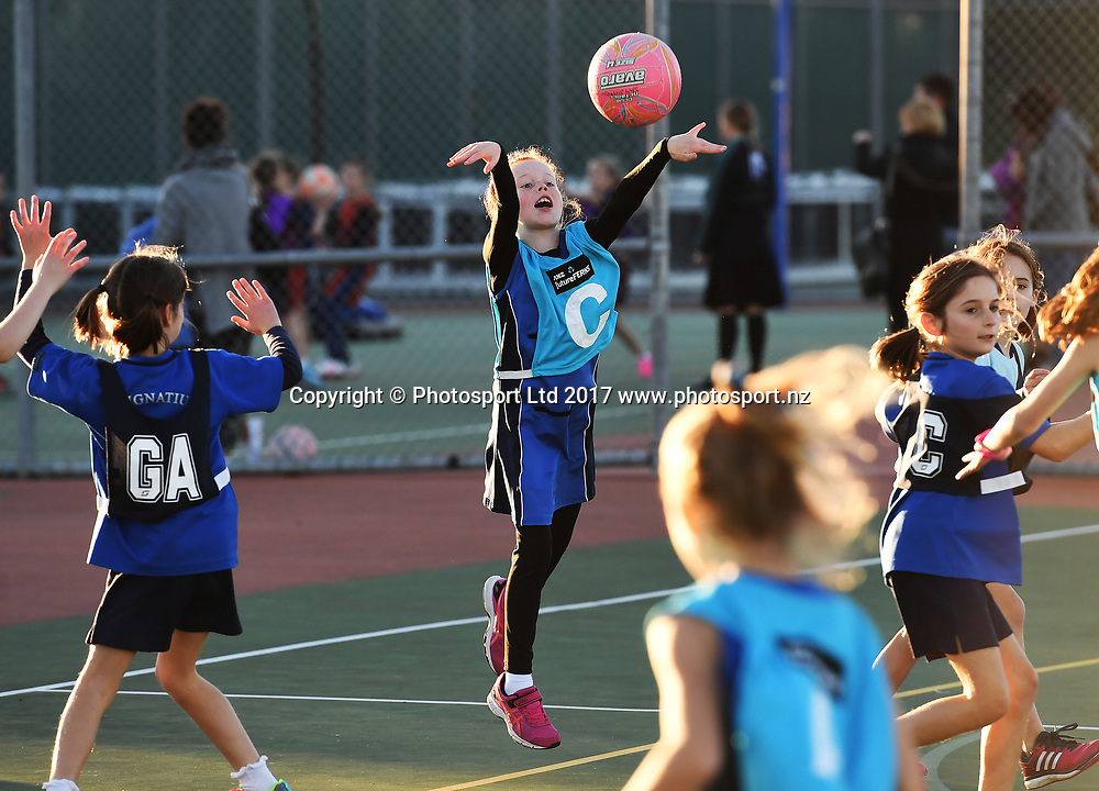 St Kentigern Girls school. Junior Netball, Auckland Netball Centre, Thursday 8 June 2017. © ANDREW CORNAGA / WWW.PHOTOSPORT.NZ
