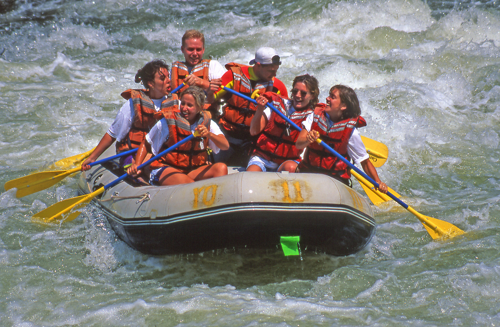 Tubing over rapids on the Youghiogheny River in Ohiophyle State Park, PA
