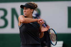 May 28, 2019 - Paris, FRANCE - Madison Keys of the United States in action during her first-round match at the 2019 Roland Garros Grand Slam tennis tournament (Credit Image: © AFP7 via ZUMA Wire)