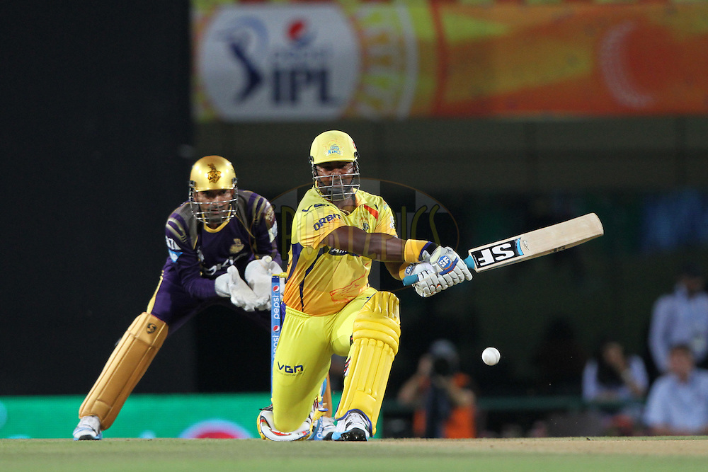Dwayne Smith of The Chennai Superkings during match 21 of the Pepsi Indian Premier League Season 2014 between the Chennai Superkings and the Kolkata Knight Riders  held at the JSCA International Cricket Stadium, Ranch, India on the 2nd May  2014<br /> <br /> Photo by Deepak Malik / IPL / SPORTZPICS<br /> <br /> <br /> <br /> Image use subject to terms and conditions which can be found here:  http://sportzpics.photoshelter.com/gallery/Pepsi-IPL-Image-terms-and-conditions/G00004VW1IVJ.gB0/C0000TScjhBM6ikg