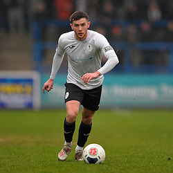 TELFORD COPYRIGHT MIKE SHERIDAN Arlen Birch of Telford  during the Vanarama Conference North fixture between AFC Telford United and Alfreton Town at the New Bucks Head Stadium on Thursday, December 26, 2019.<br /> <br /> Picture credit: Mike Sheridan/Ultrapress<br /> <br /> MS201920-036