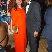NLD/Amsterdam/20151017 - Inloop JFK Greatest Man Award 2015, Humberto Tan en partner Ineke Geenen