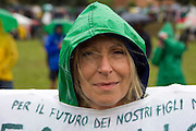 Claudia Barbieri, at annual gathering of Lega Nord (North League) in Pontida, June 20, 2010. ..Claudia Barbieri all'annuale raduno della Lega Nord a Pontida, 20 giugno, 2010.
